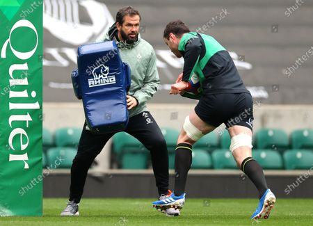 Head coach Andy Farrell with James Ryan
