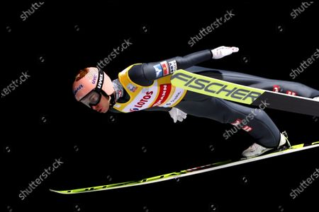 Stefan Kraft of Austria in action during a Qualification session for the FIS Ski Jumping World Cup at the Adam Malysz Ski Jump in Wisla, Poland, 20 November 2020.