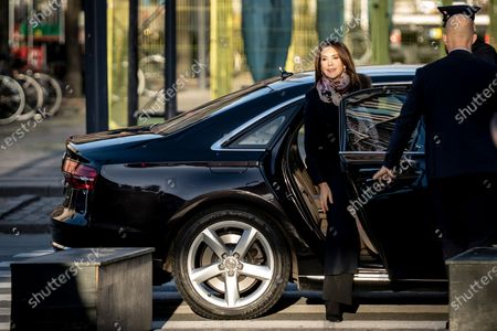 Crown Princess Mary of Denmark arrives in Tivoli Gardens in Copenhagen, Denmark, 20 November 2020, to participate with UNICEF in a livestream conversation on World Children's Day. The conversation took up topics like, What is it like to be a child in Denmark, children's rights, and their point of view in terms of solutions to the challenges of the coronavirus pandemic and the climate crisis.