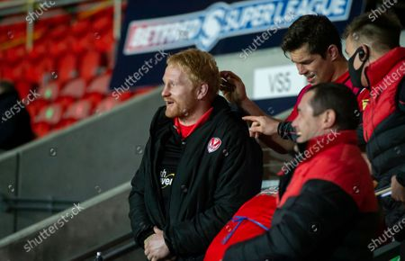 St Helens's James Graham on the bench at the final whistle watches as side mauled the Catalan Dragons 48-2.