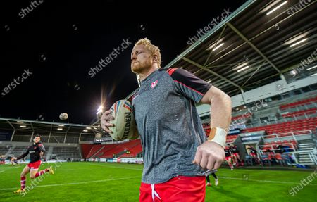 St Helens's James Graham comes out for warm ups.