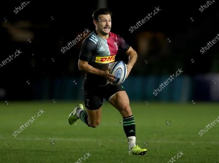 Editorial image of Harlequins v Exeter Chiefs, Rugby Union, Gallagher Premiership, The Stoop, Twickenham, UK - 20/11/2020