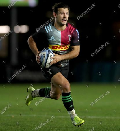 Editorial photo of Harlequins v Exeter Chiefs, Rugby Union, Gallagher Premiership, The Stoop, Twickenham, UK - 20/11/2020
