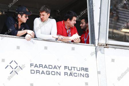 2016/2017 FIA Formula E Championship. Monte-Carlo, Monaco Saturday 13 May 2017. Jay Penske and Loic Duval (FRA), Dragon Racing, Spark-Penske, Penske 701-EV. Photo: Sam Bloxham/LAT/Formula E