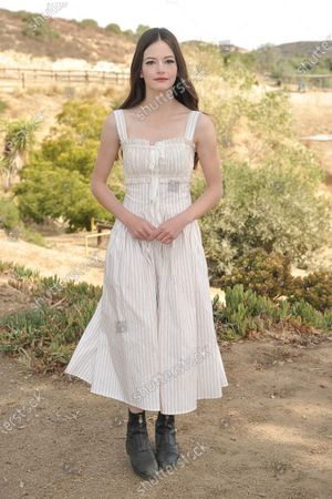 """Mackenzie Foy attends an event to promote the film """"Black Beauty"""" at Fair Hill Farms, in Topanga, Calif"""