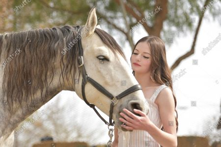 """Stock Photo of Mackenzie Foy attends an event to promote the film """"Black Beauty"""" at Fair Hill Farms, in Topanga, Calif"""