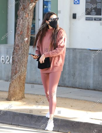 Stock Image of Sara Sampaio seen out and about in Alo Yoga attire