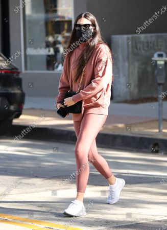 Sara Sampaio seen out and about in Alo Yoga attire