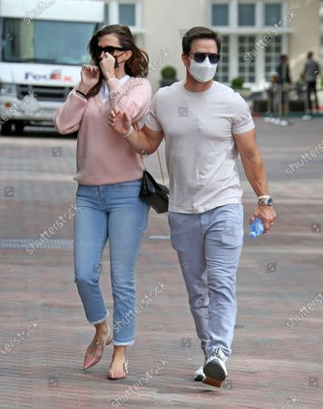 Stock Photo of Mark Wahlberg and Rhea Durham shopping at Chanel in Beverly Hills