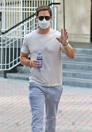 Mark Wahlberg shopping at Chanel in Beverly Hills