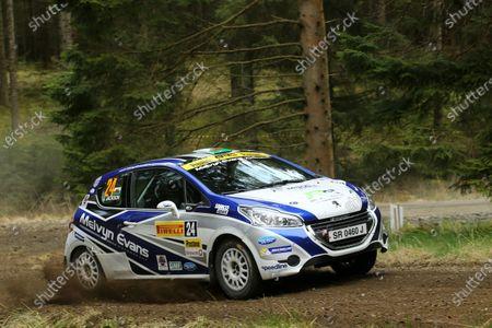 2017 Prestone MSA British Rally Championship,  Pirelli International Rally, Carlisle. 29th - 30th April 2017. Meirion Evans / Jonathan Jackson Peugeot 208 R2. World Copyright: JEP / LAT Images.