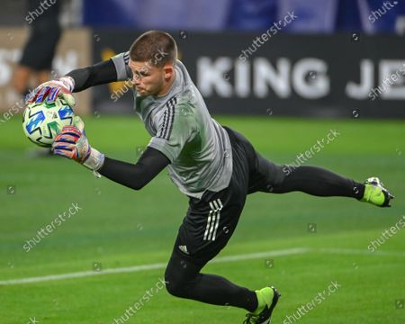 Inter Miami goalkeeper, John McCarthy (1), during a warm up session at the MLS Eastern Conference Play In match between Inter Miami CF and Nashville SC at Nissan Stadium in Nashville, TN