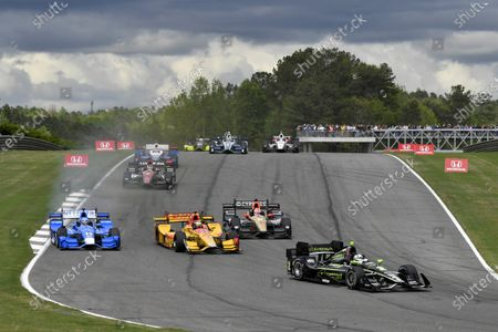 2017 Verizon IndyCar Series Honda Indy Grand Prix of Alabama Barber Motorsports Park, Birmingham, AL USA Sunday 23 April 2017 Josef Newgarden, Team Penske Chevrolet, Tony Kanaan, Chip Ganassi Racing Teams Honda, Ryan Hunter-Reay, Andretti Autosport Honda, James Hinchcliffe, Schmidt Peterson Motorsports Honda World Copyright: Scott R LePage LAT Images