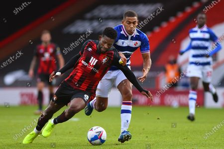 Jefferson Lerma of AFC Bournemouth is fouled by Andy Rinomhota of Reading  - AFC Bournemouth v Reading, Sky Bet Championship, Vitality Stadium, Bournemouth, UK - 21st November 2020Editorial Use Only - DataCo restrictions apply