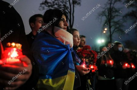 Editorial picture of Ukrainians mark the anniversary of the Euromaidan Revolution in Kiev, Ukraine - 21 Nov 2020