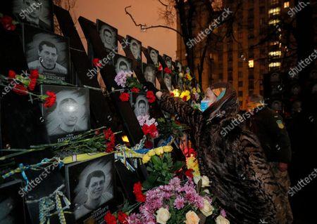 Editorial photo of Ukrainians mark the anniversary of the Euromaidan Revolution in Kiev, Ukraine - 21 Nov 2020