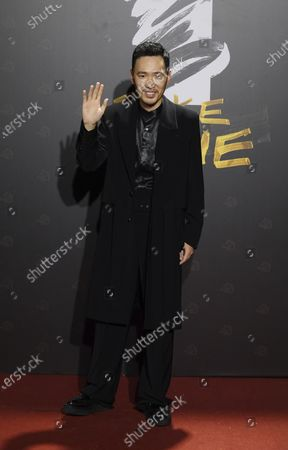 """Stock Picture of Taiwanese actor Michael Chang arrives at the 57th Golden Horse Awards in Taipei, Taiwan, . Chang is nominated for Best Supporting Actor for the film """"A Leg"""" at this year's Golden Horse Awards, one of the Chinese-language film industry's biggest annual events"""