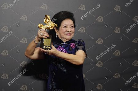 "Taiwanese actress Chen Shu-fang holds her award for Best Supporting Actress at the 57th Golden Horse Awards in Taipei, Taiwan, . Chen won for the film ""Dear Tenant"" at this year's Golden Horse Awards -the Chinese-language film industry'sbiggest annual events"