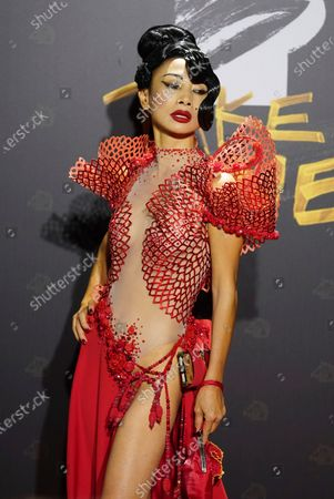 """Chinese-American actress Bai Ling arrives at the 57th Golden Horse Awards in Taipei, Taiwan, . Bai is nominated for Best Leading Actress for the film """"The Abortionist"""" at this year's Golden Horse Awards"""