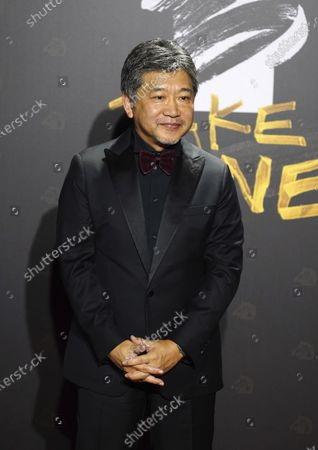 Japanese director Hirokazu Koreeda arrives at the 57th Golden Horse Awards in Taipei, Taiwan, . Koreeda is guest at this year's Golden Horse Awards, one of the Chinese-language film industry's biggest annual events