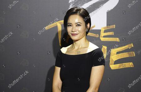 Malaysian Chinese actress Yeo Yann-Yann arrives at the 57th Golden Horse Awards in Taipei, Taiwan, . Yeo is guest at this year's Golden Horse Awards