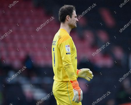 Asmir Begovic of AFC Bournemouth during AFC Bournemouth vs Reading, Sky Bet EFL Championship Football at the Vitality Stadium on 21st November 2020