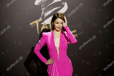 Stock Photo of Vivian Hsu poses for photographs at the 57th Golden Horse Awards ceremony in Taipei, Taiwan, 21 November 2020. The film awards established in 1962 are presented to filmmakers working in Chinese-language cinema.