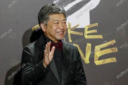 Stock Picture of Hirokazu Koreeda poses for photographs at the 57th Golden Horse Awards ceremony in Taipei, Taiwan, 21 November 2020. The film awards established in 1962 are presented to filmmakers working in Chinese-language cinema.