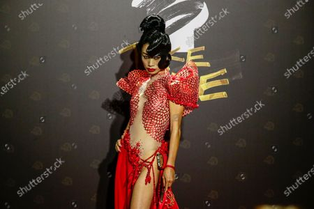 Bai Ling poses for photographs at the 57th Golden Horse Awards ceremony in Taipei, Taiwan, 21 November 2020. The film awards established in 1962 are presented to filmmakers working in Chinese-language cinema.