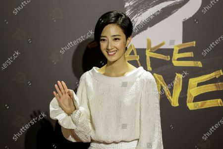 Kwai Lun-mei poses for photographs at the 57th Golden Horse Awards ceremony in Taipei, Taiwan, 21 November 2020. The film awards established in 1962 are presented to filmmakers working in Chinese-language cinema.