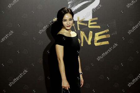 Malaysian Chinese actress Yeo Yann-Yann poses for photographs at the 57th Golden Horse Awards ceremony in Taipei, Taiwan, 21 November 2020. The film awards established in 1962 are presented to filmmakers working in Chinese-language cinema.