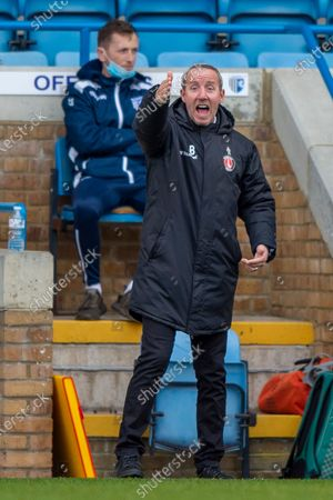 Charlton Athletic manager Lee Bowyer during the EFL Sky Bet League 1 match between Gillingham and Charlton Athletic at the MEMS Priestfield Stadium, Gillingham