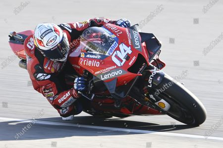 Stock Picture of ALGARVE INTERNATIONAL CIRCUIT, PORTUGAL - NOVEMBER 21: Andrea Dovizioso, Ducati Team during the Portuguese GP at Algarve International Circuit on November 21, 2020 in Algarve International Circuit, Portugal. (Photo by Gold and Goose / LAT Images)