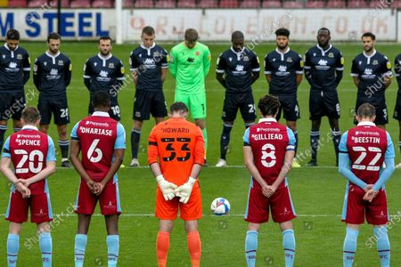 minutes sience for Ray Clemence prior to the EFL Sky Bet League 2 match between Scunthorpe United and Morecambe at the Sands Venue Stadium, Scunthorpe