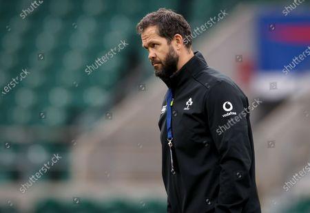 England vs Ireland. Ireland Head Coach Andy Farrell