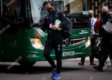 England vs Ireland. Ireland Head Coach Andy Farrell arrives at Twickenham Stadium