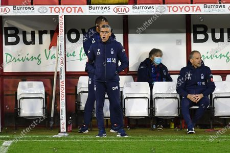 Nottingham Forest Manager Chris Hughton  during the EFL Sky Bet Championship match between Barnsley and Nottingham Forest at Oakwell, Barnsley