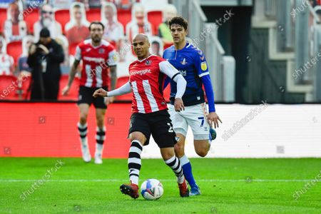 Jake Caprice (2) of Exeter City on the attack during the EFL Sky Bet League 2 match between Exeter City and Oldham Athletic at St James' Park, Exeter