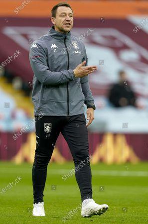 Aston Villa assistant coach John Terry reacts prior to the English Premier League soccer match between Aston Villa and Brighton Hove Albion in Birmingham, Britain, 21 November 2020.