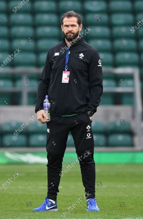 Ireland's coach Andy Farrell ahead of the Autumn's Nations Cup rugby match between England and Ireland at Twickenham Stadium in London, Britain, 21 November 2020.