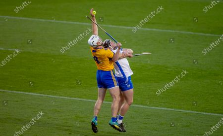 Waterford vs Clare. Waterford's Jake Dillon with Patrick O'Connor of Clare
