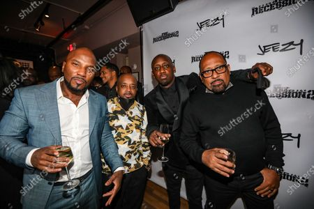 Stock Picture of (L-R) Jeezy, Jermaine Dupri, Chaka Zulu and Frank Ski attend dinner at Apt 4B