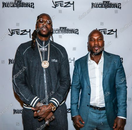 (L-R) 2 Chainz and Jeezy attends dinner at Apt 4B