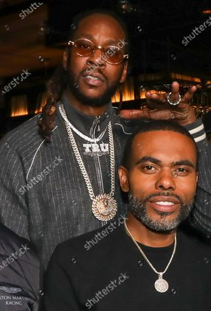 2 Chainz and Lil Duval attend dinner at Apt 4B