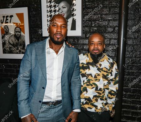 Stock Photo of (L-R) Jeezy and Jermaine Dupri attend dinner at Apt 4B