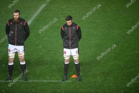Jake Ball of Wales and Justin Tipuric of Wales