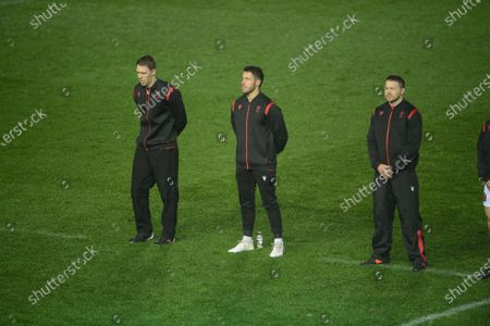 Liam Williams of Wales, Rhys Webb of Wales, James Davies of Wales
