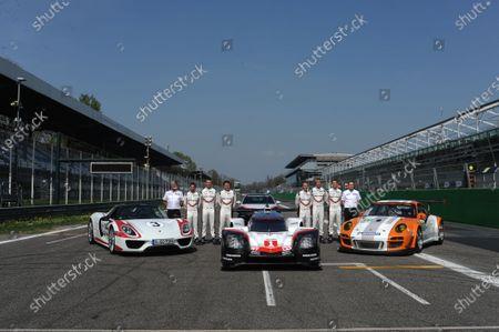 2017 FIA World Endurance Championship, 31st March - 2nd April, 2017, Monza Prologue, 1 Neel Jani (CHE) \ Andr? Lotterer (DEU) \ NickTandy (GBR) - PORSCHE LMP TEAM - Porsche 919 Hybrid 2 Timo Bernhard (DEU) \ Earl Bamber (NZL) \ Brendon Hartley (NZL) - PORSCHE LMP TEAM ? Porsche 919 Hybrid World Copyright: JEP/LAT Images.
