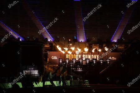 Stock Picture of Dublin vs Meath. Brendan Gleeson speaking at the GAA Bloody Sunday Commemoration at Croke Park
