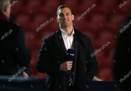 Sam Warburton doing commentary for Amazon Prime Video.